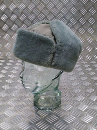 All Sizes NEW Genuine German Army NVA Grey Cossack Ushanka Trapper Hat