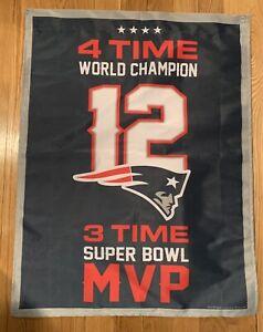 Tom Brady New England Patriots 36x28 Banner 4X World Champion ... 8b6930e41