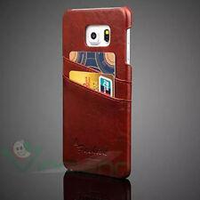 Custodia POCKET marrone p Samsung Galaxy S6 Edge+ Plus G928F tasche porta schede