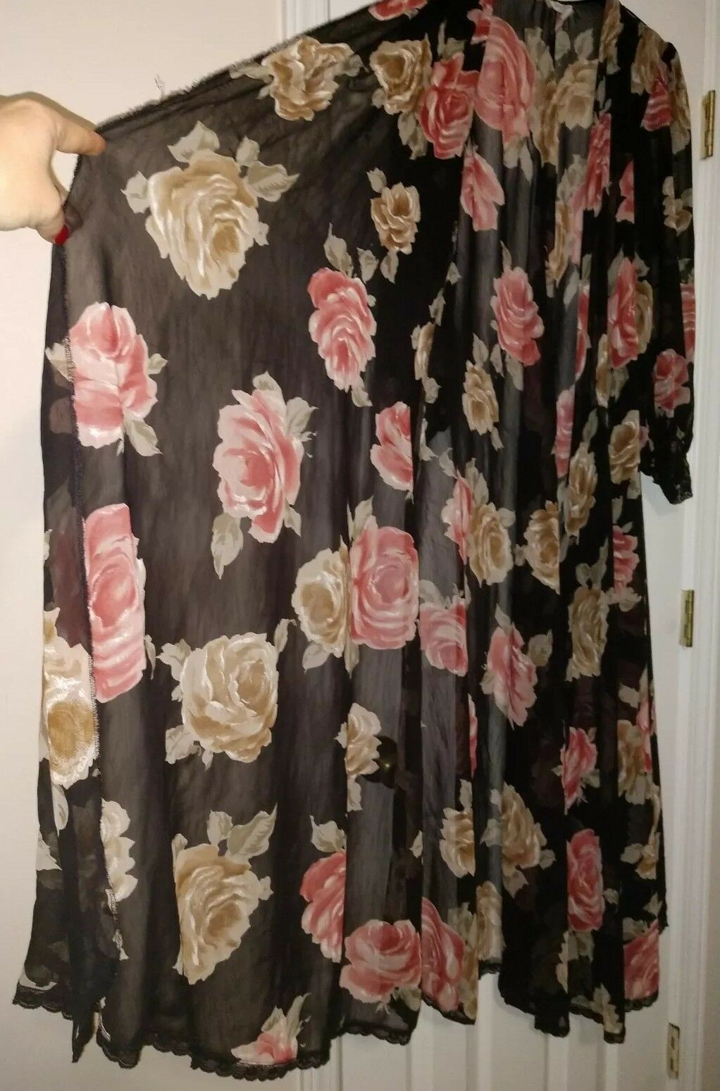 Lucie Ann Vintage Floral Sheer Size Small  - image 4