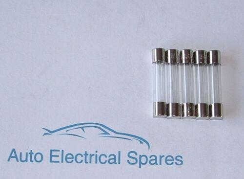 CLASSIC CAR glass fuse 32mm x 6.3mm 5 amp x 5 for LUCAS 4FJ 6FJ 7FJ fuse box