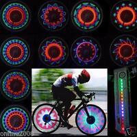 2pcs 16 Led Car Motorcycle Cycling Bicycle Tire Wheel Valve Flashing Spoke Light