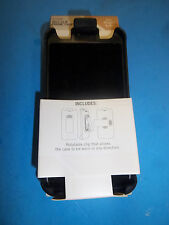 NEW BLACK CELL PHONE BELT CLIP CASE FITS APPLE  I4  FREE SHIPPING