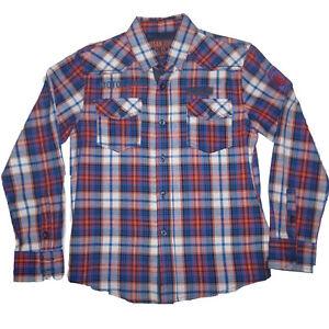 Camisas-nino-de-Losan-cuadros-rojos-y-azules-talla-8