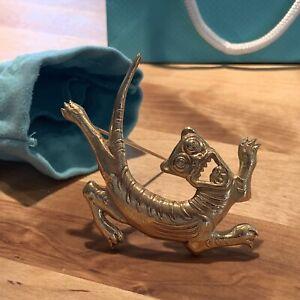 Rare-Vintage-Tiffany-amp-Co-18k-Solid-Yellow-Gold-Chinese-Dragon-Brooch-Pin