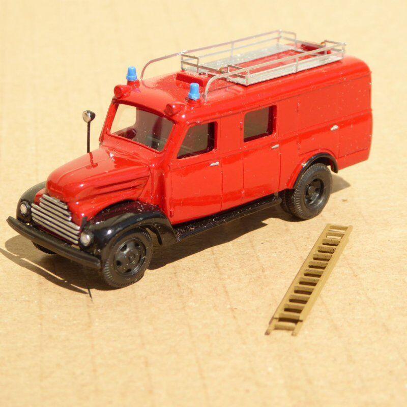 RK modellllerLE H0 RAL Pompieri VAGONE PORTA PERSONAL Testa CAMION DDR, CSSR,