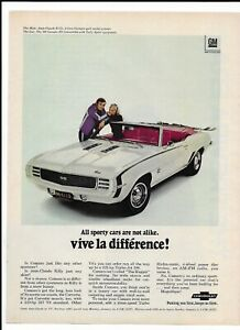 WHITE-CHEVROLET-CAMARO-Vintage-1968-Print-Ad-Killy-Vive-La-Difference