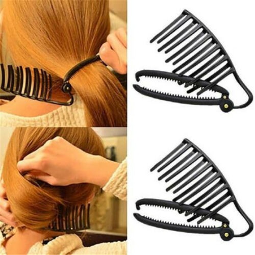 Quick Fast to Use Hair Clip Styling Tools Braided Hair Accessory Black Color 8C