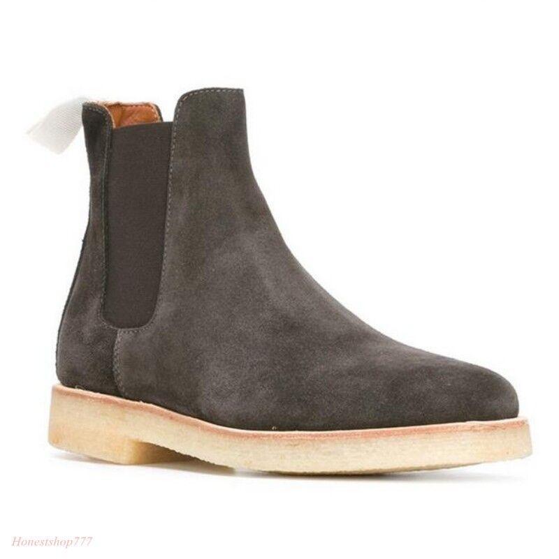 les bottines de glisser en daim en haut robe formelle chelsea vogue des chaussures en daim cuir fe807f
