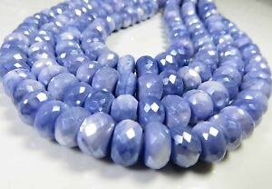 8 inch long strand faceted mystic grey moonstone rondelle beads 8 mm approx