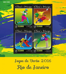 Sao-Tome-amp-Principe-2016-MNH-Rio-2016-Summer-Olympics-4v-M-S-Judo-Rugby-Stamps