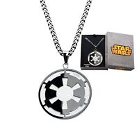 Star Wars Galactic Empire & Death Star Pendant With Chain Officially Licensed