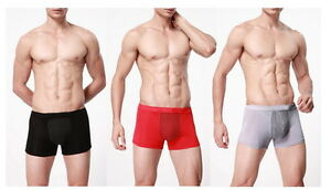 Mens-Tourmaline-magnets-Boxer-Trunk-shorts-Underwear-back-support-penis-health