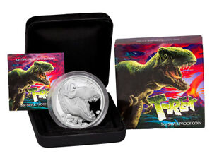 2017-Tuvalu-T-Rex-5-oz-Silver-Proof-5-Coin-In-Original-Mint-Packaging-SKU47575