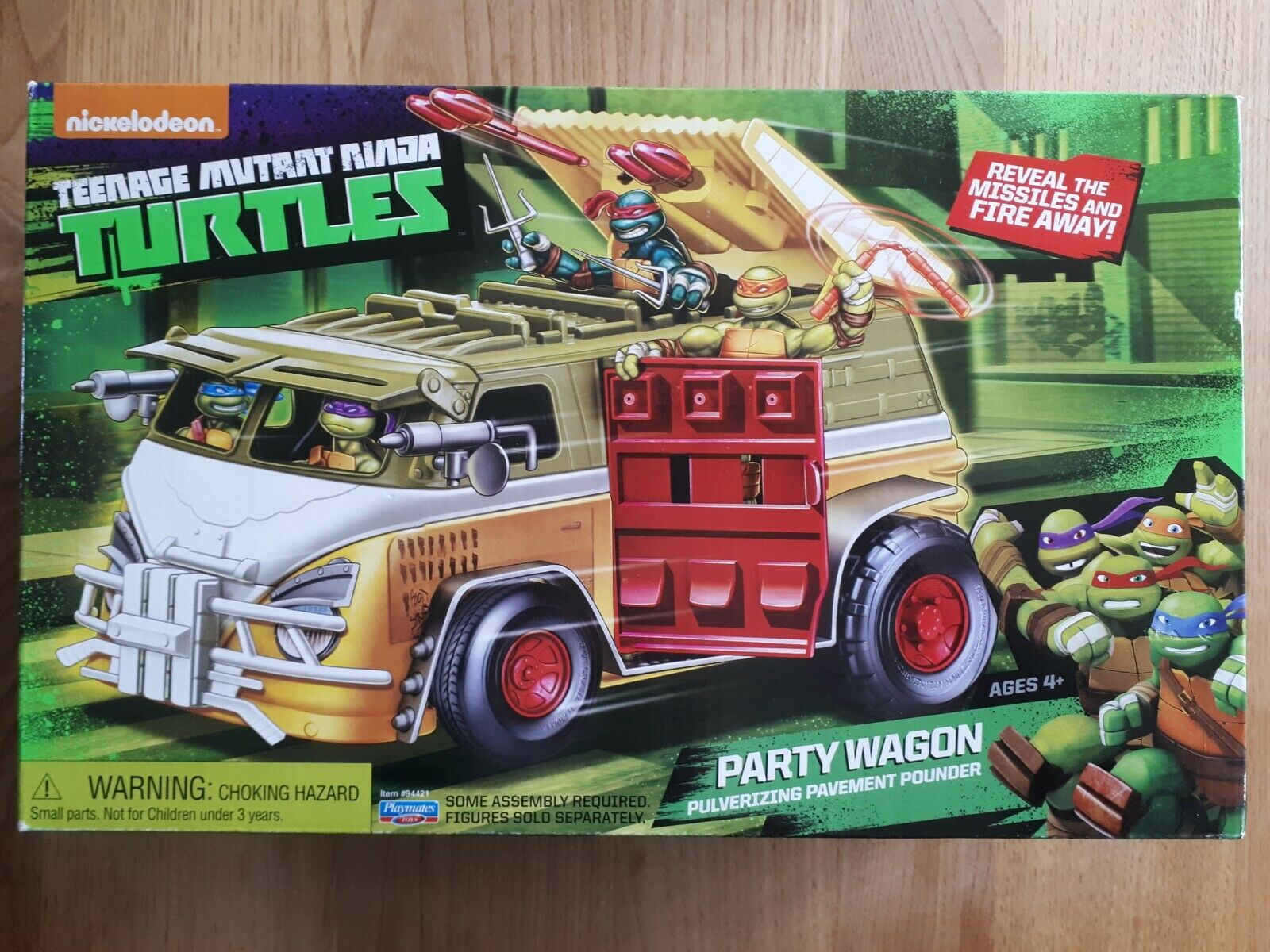 Neuf Turtles Tortues Ninja Party Wagon Camion de combat 2015 teenage mutant