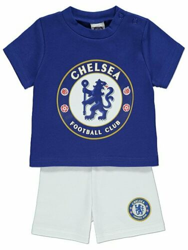 Chelsea FC Baby Kit T-Shirt /& Shorts Set Short sleeve Short leg 6-18 Months