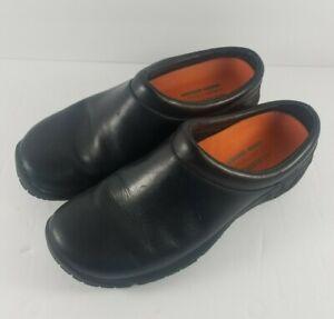 Women-039-s-Merrell-Encore-Nova-2-Black-Smooth-Gen-Leather-Slip-On-Shoes-Size-7-5