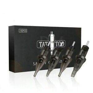 Cartridge Tattoo 10Pcs Needles RL RS RM M1 Disposable Sterilized Safety Needle