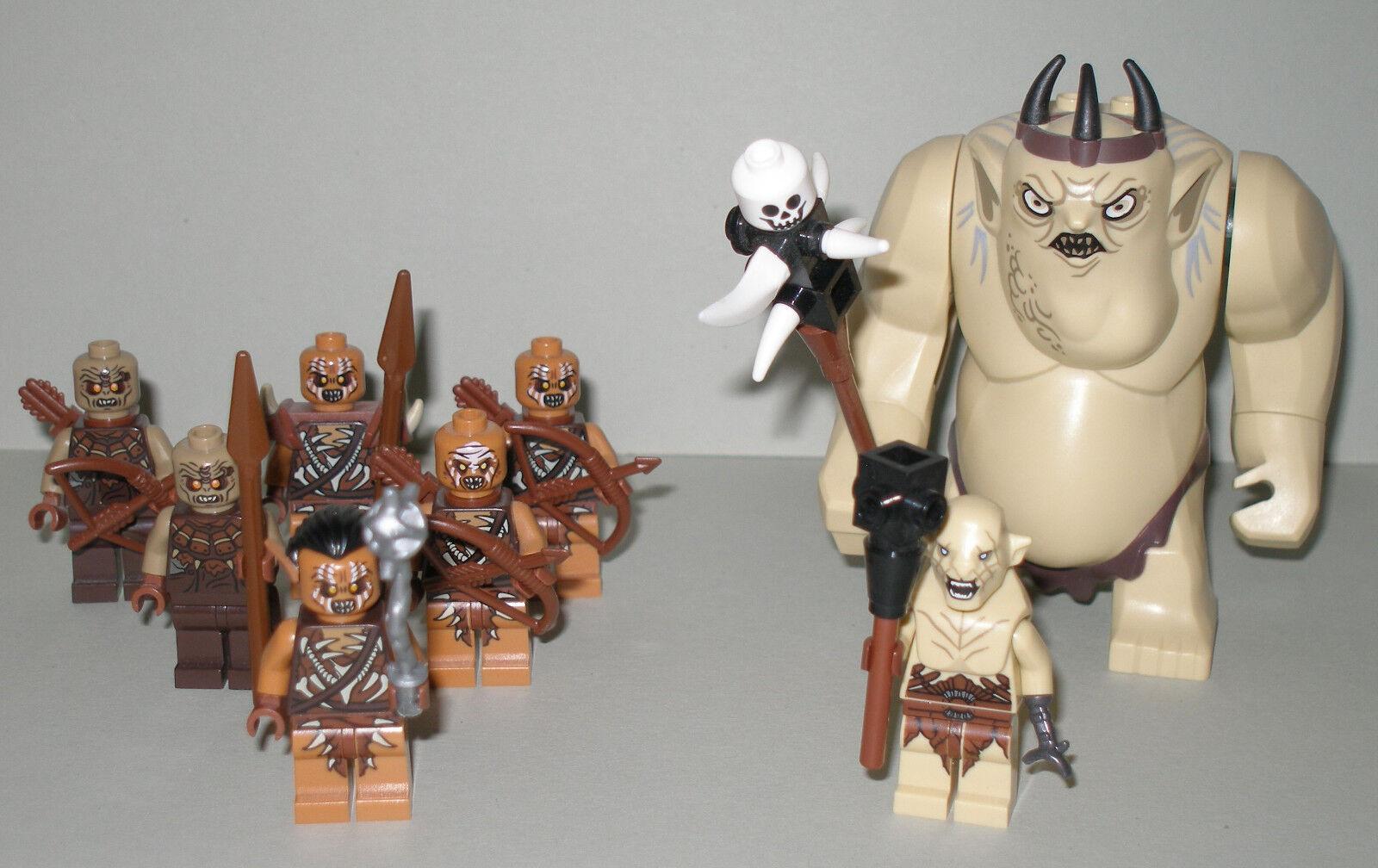 Lego le hobbit/Seigneur des des des Anneaux gobelin roi, AZOG et 6 ORCS jamais avec accessoires 6a742a