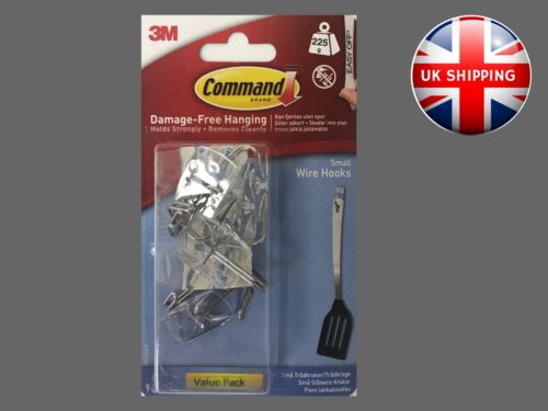 Small Clear Wire Hooks with Clear Strips 17067CLR-VP9 Value pack 3M Command