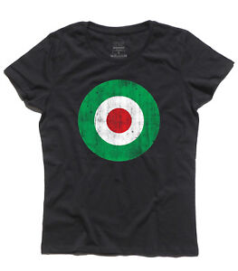 Camiseta Objetivo Antigüedad Italie Bandera Mujer Colores De rzxHEr