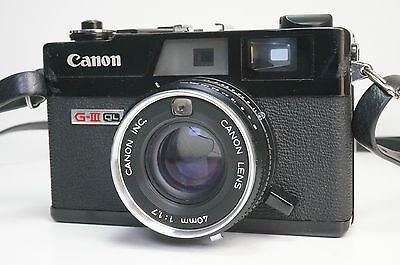 Canon Canonet QL17 G-III black 35mm Rangefinder Film Camera with 40mm Lens