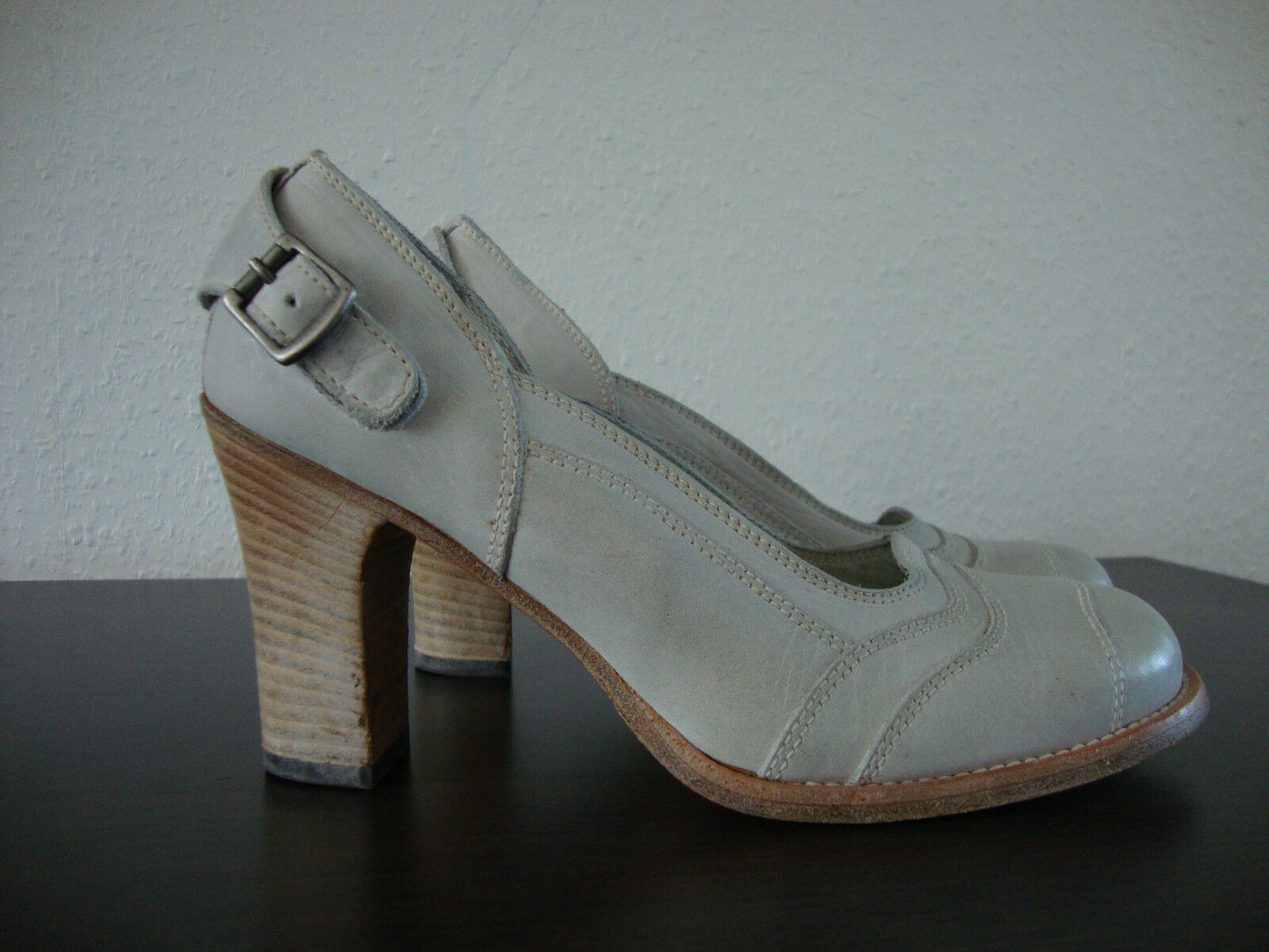 BELSTAFF Audrey lady Scarpe Scarpe Décolleté da 37 Donna in Pelle Antico Bianco Tg. 37 da NUOVO f7bf75