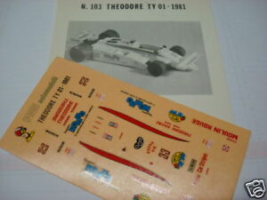 ENSIGN F1 N 177 THEODORE 1977 PATRICK TAMBAY DECAL 1//43