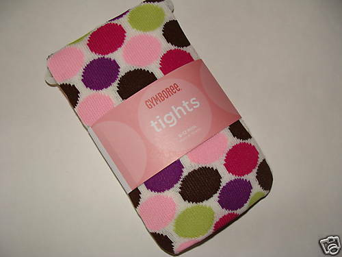 Gymboree Dots of Fun Girls Size 0-6 M Tights NEW