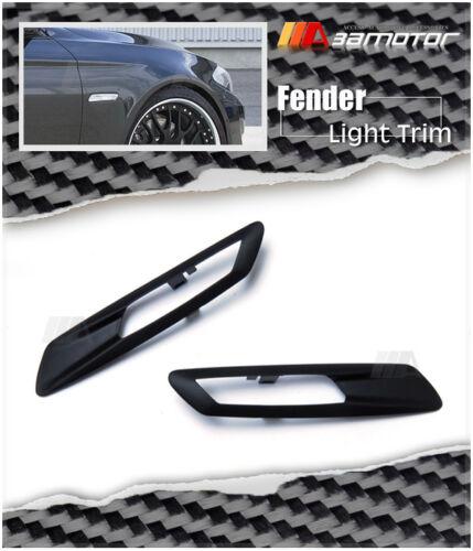 Matte Black Fender Side Light Sidemarker Trim Covers for BMW F10 F11 5-Series