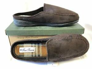 Four-Seasons-Mens-Slipper-John-Men-039-s-Brown-Mule-Slippers