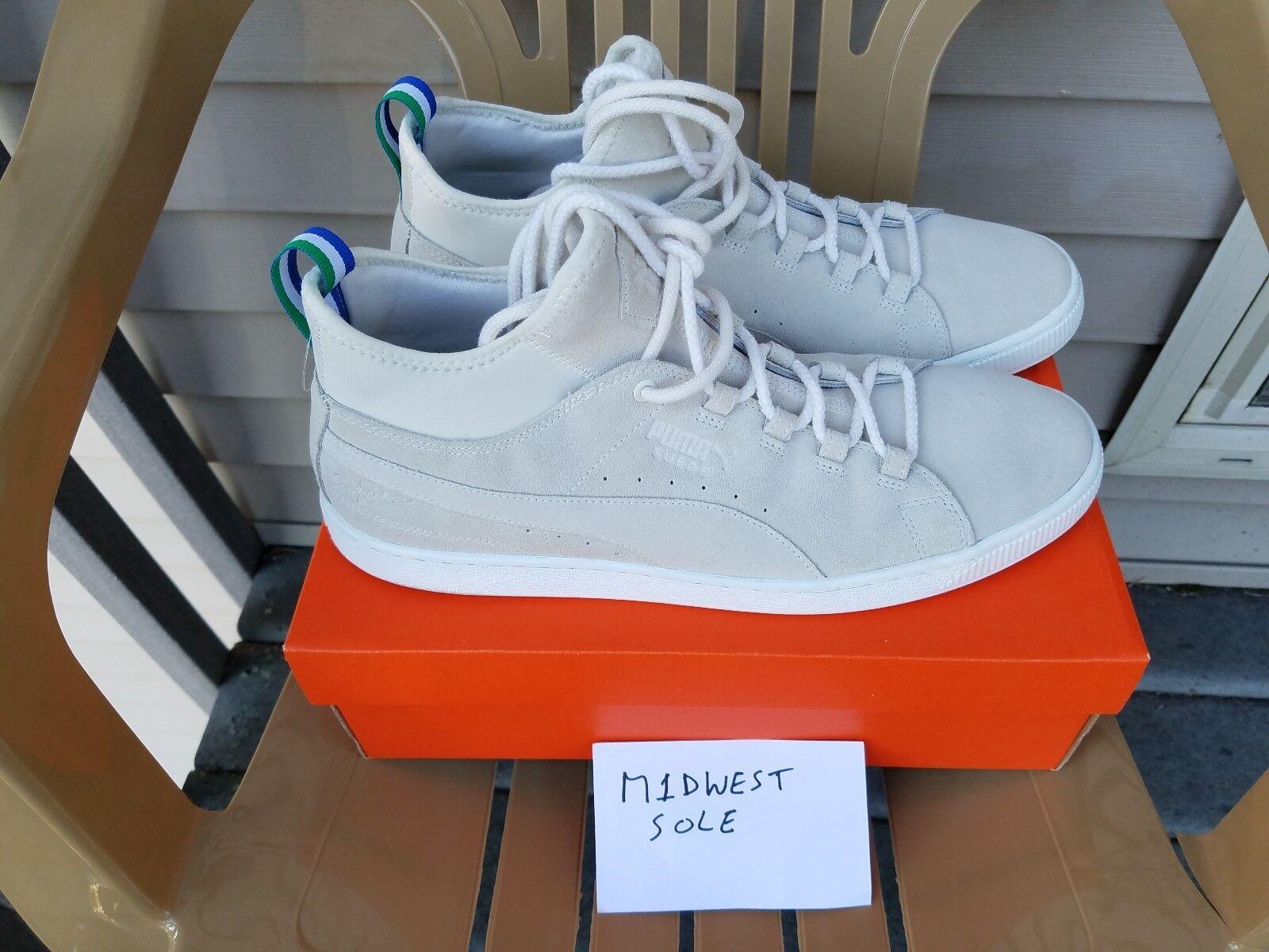 Puma Big Sean Suede 50 Mid-Top Sneakers Grey Suede Size 13