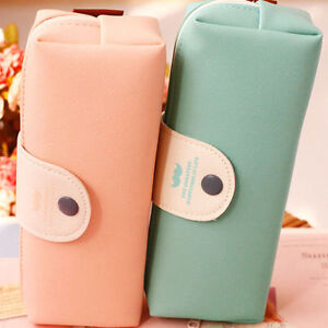 Cute-Simple-Pencil-Pen-Case-Box-Cosmetic-Pouch-Pocket-Brush-Holder-Makeup-Bag-UK