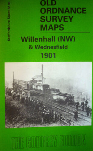Old Ordnance Survey Maps Willenhall NW /& Wednesfield Staffordshire 1901 S62.09