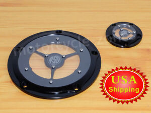 Black CNC Cut Derby cover harley street glide Timer Cover Harley Road Glide FLH Other Motorcycle Parts