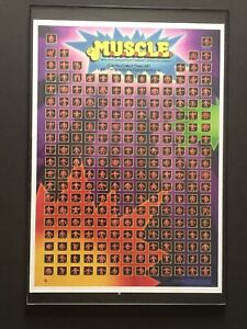 Vintage-1985-Mattel-M-U-S-C-L-E-Men-Figure-Poster-17-X-12-Checklist
