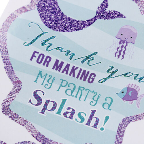 40pcs Mermaid Seal Stickers Thank You Sea Shell Labels DIY Baking Gift Labels rS
