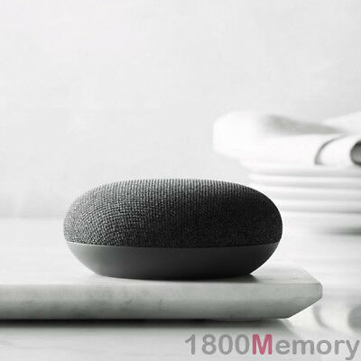 Google Home Mini Smart Assistant Charcoal Black Voice Activated Speaker Automate
