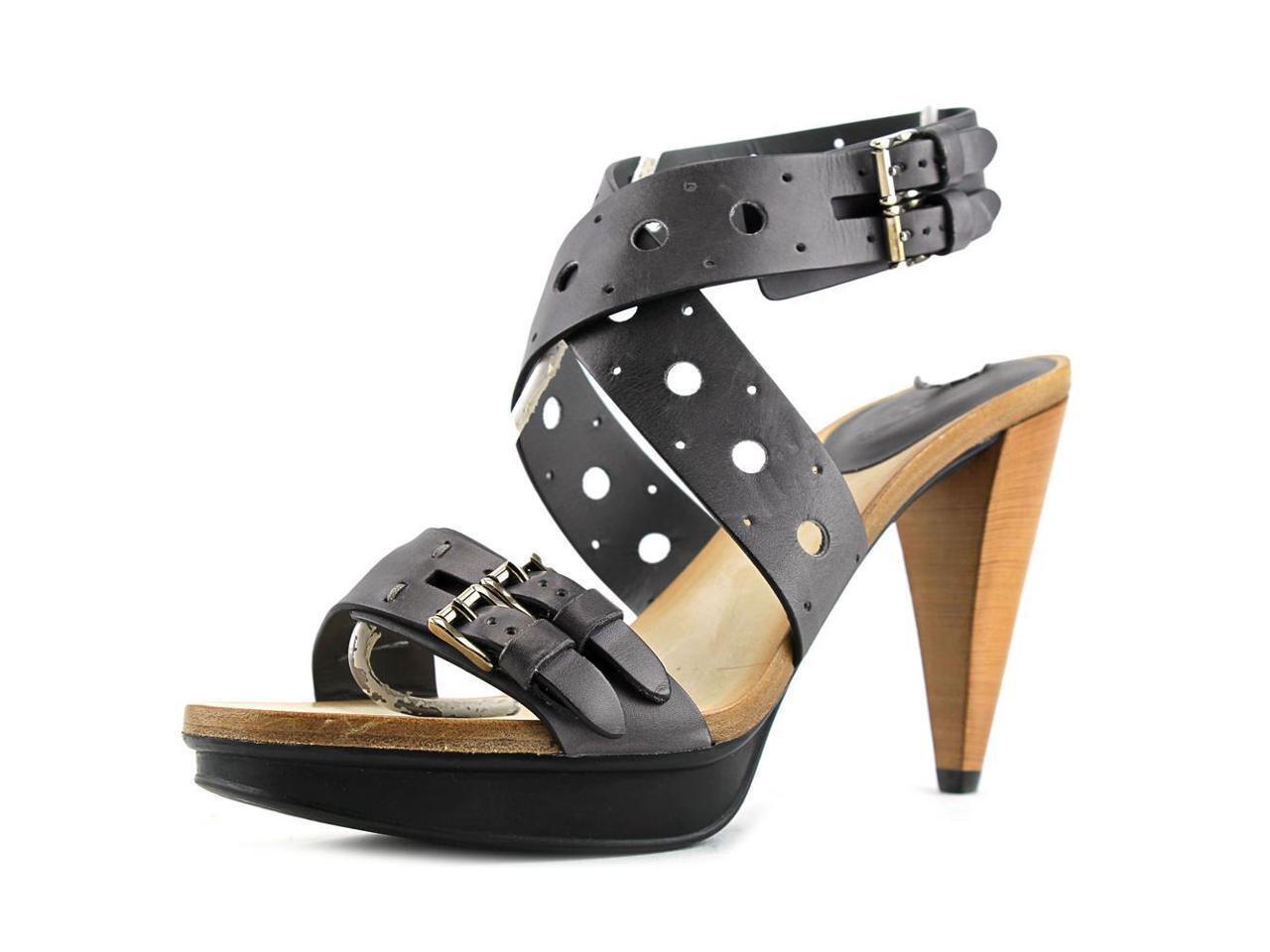¡Nuevo! Tod's Sasha GOMMA Sandalo Forature Punta Abierta de Cuero Talla: Eu 39 /