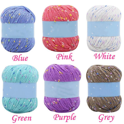 KF 50g Dots Knitting Sewing Thread Scarf Sweater Hat Crochet DIY Woolen Yarn