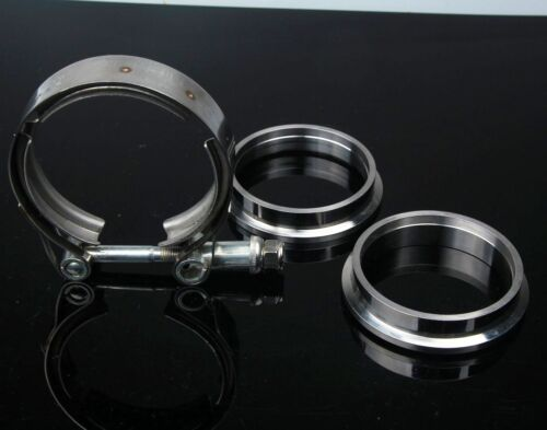 """1Pc 4/"""" 102mm Stainless V-Band Bolt Clamp Flange Kit Turbo Exhaust Downpipes"""