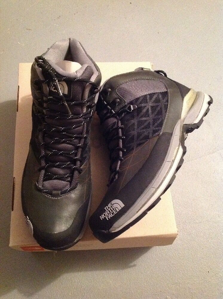 Nuevo En Caja NORTH HAVOC MID GTX XCR Senderismo FACE botas Negro gris Impermeable
