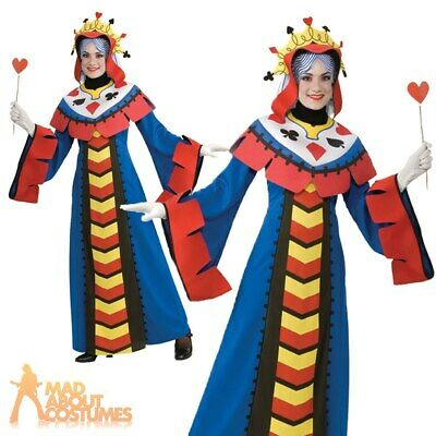 Women/'s Queen Playing Card Fancy Dress Cosplay Costume