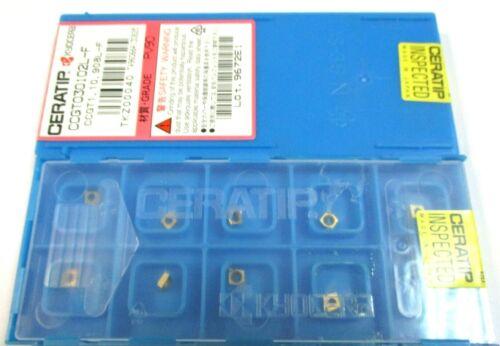 10 KYOCERA Wendeplatten zum Drehen  CCGT 030102L-F PV90 Neu H38905