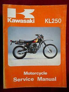 service manual kawasaki 1980 1983 kl250 kl 250 k405 ebay rh ebay com kawasaki klr 250 service manual kawasaki kl250 service manual download