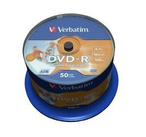 600 DVD -R PRINTABLE VERBATIM AZO 16x vergini stampabili DVDR FULL PRINT 43533