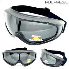 Mens Large Motorcycle Riding Padded Goggles Polarized Lens Protective Eyewear