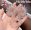 10-50x Super Elastic Crystal Spiral Coil Wire Hair Bands Bobbles Ponytail Holder