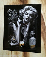 "Oldschool Sticker "" Marilyn Monroe  ""  Aufkleber US Cars V8 - Pinup Girl USA"