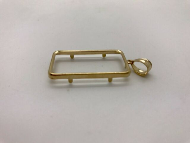 14k Pretty Yellow Gold Regular Thin Frame For 20 Gram Bar 1 8 Grams